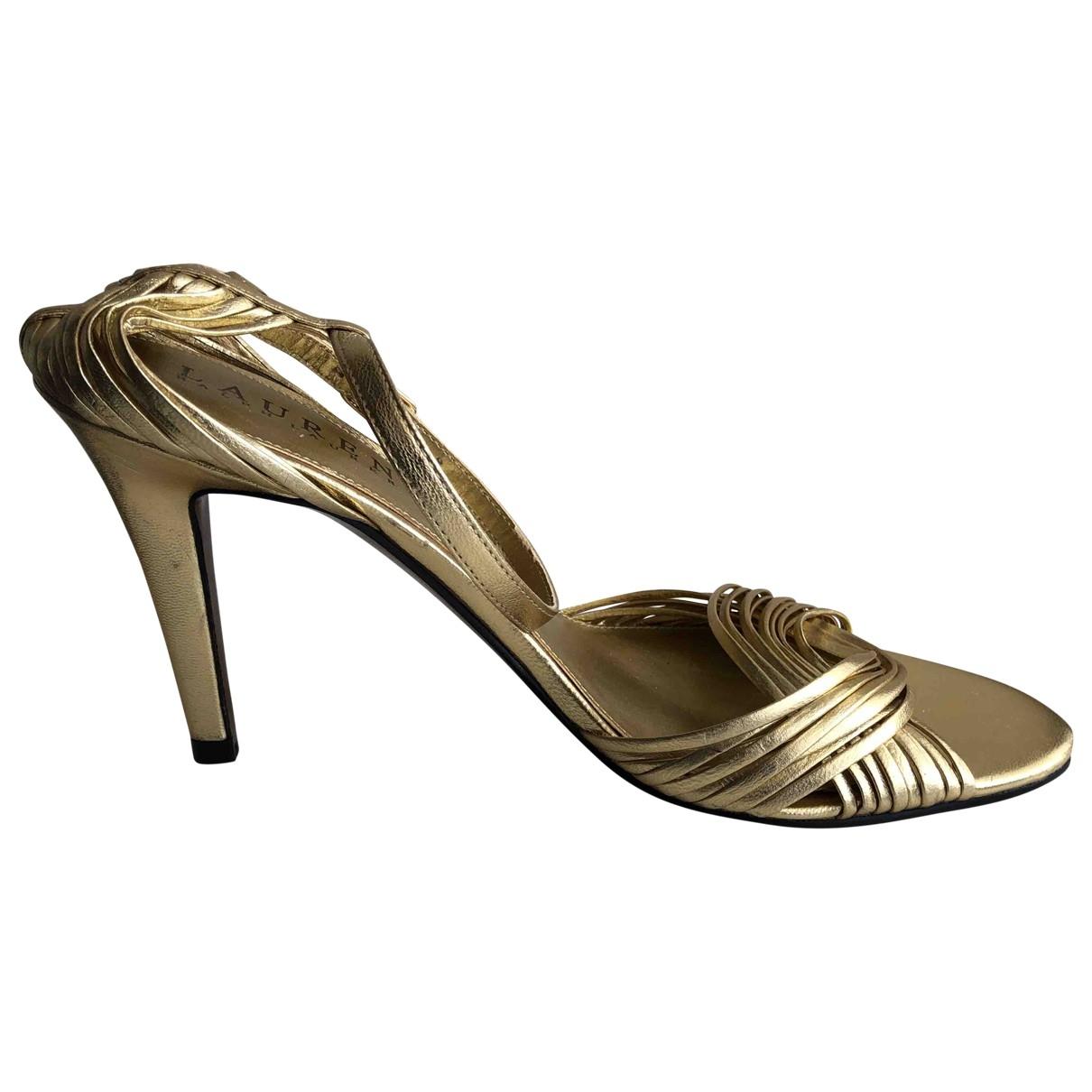 Lauren Ralph Lauren \N Gold Leather Sandals for Women 6 US