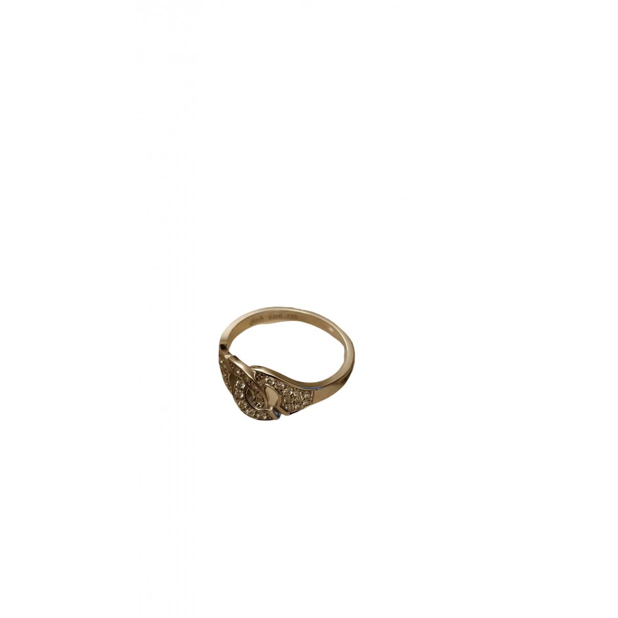 Dinh Van - Bague Menottes  pour femme en or blanc - argente