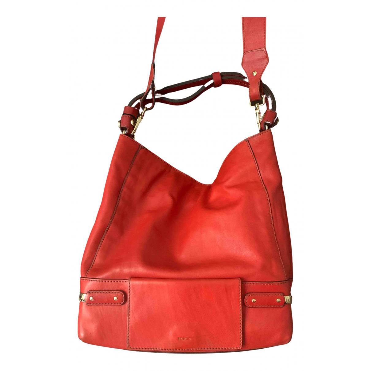 Furla - Sac a main   pour femme en cuir - rouge