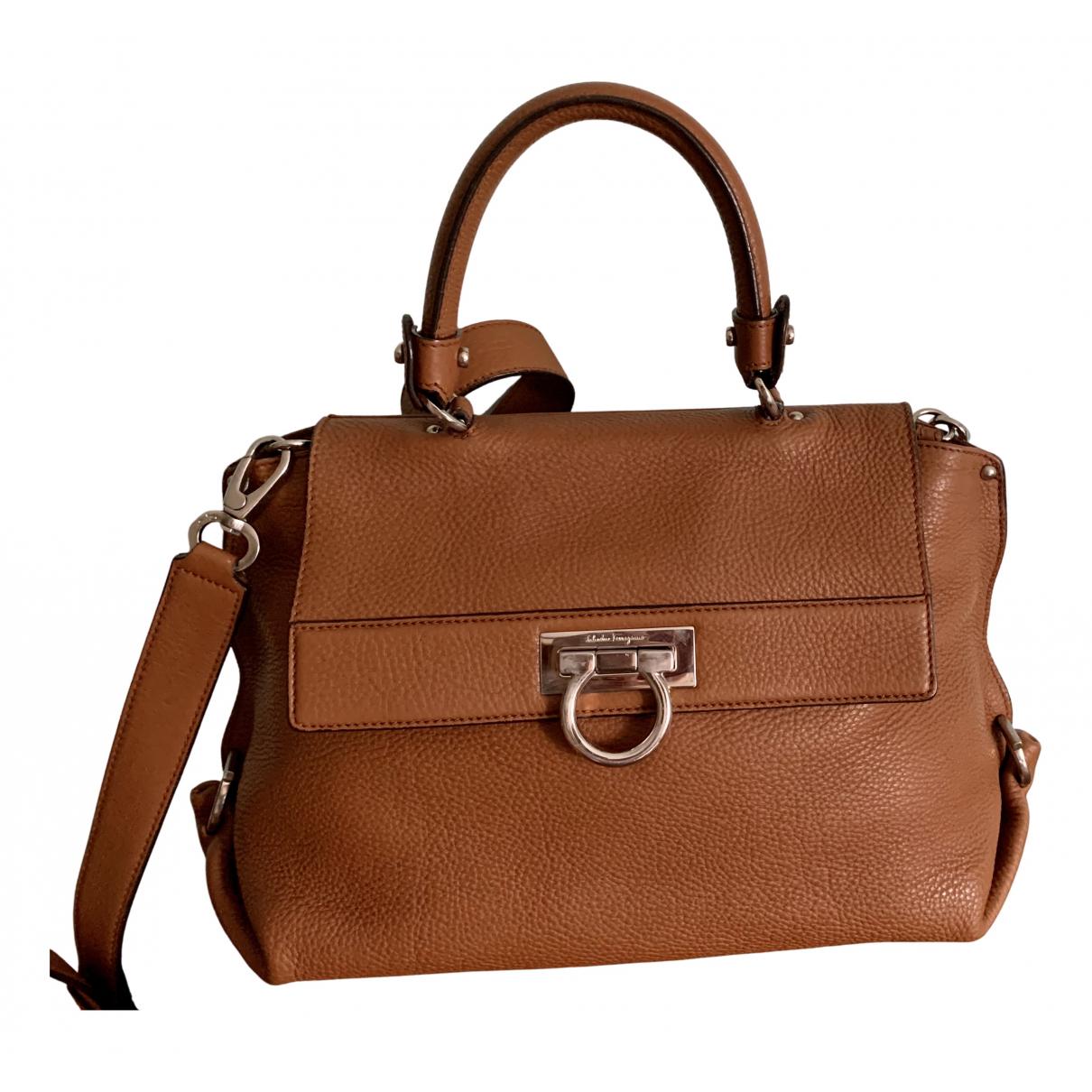 Salvatore Ferragamo Sofia Camel Leather handbag for Women N