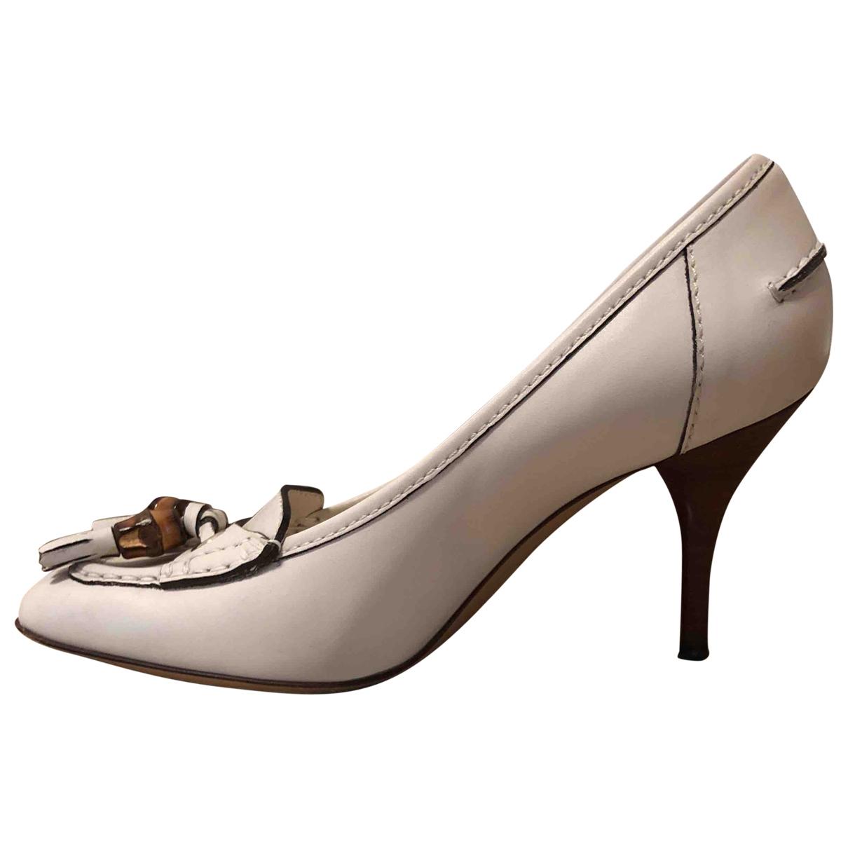 Gucci - Escarpins   pour femme en cuir - beige