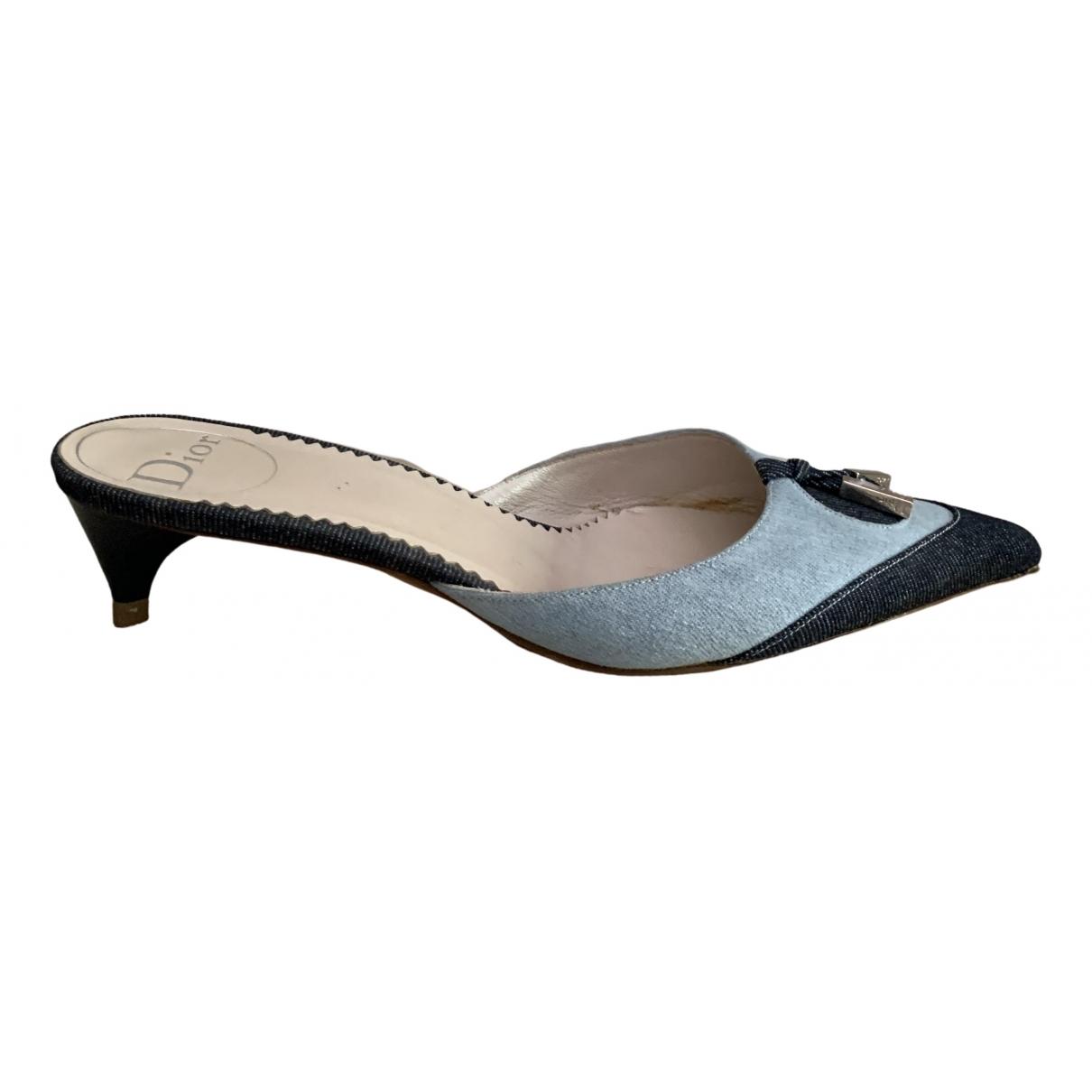 Dior \N Sandalen in  Blau Leinen