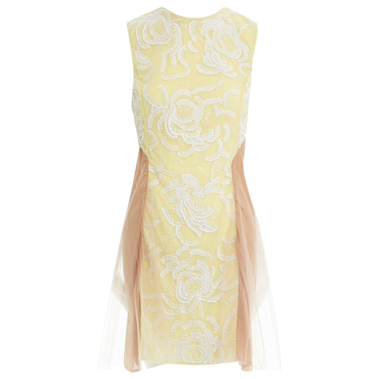 Christopher Kane \N Yellow Cotton dress for Women 6 UK