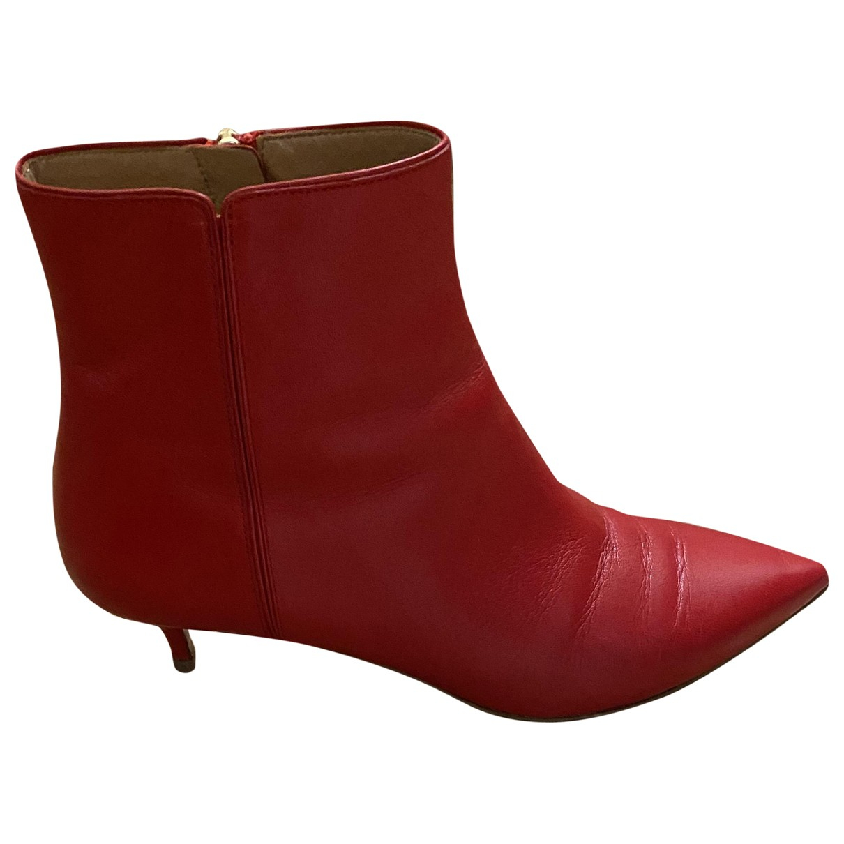 Aquazzura \N Stiefel in  Rot Leder