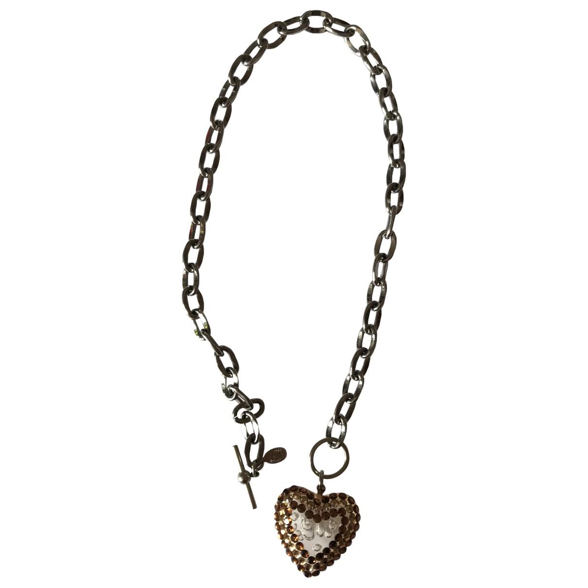 - Collier Motifs Coeurs pour femme en cristal - dore