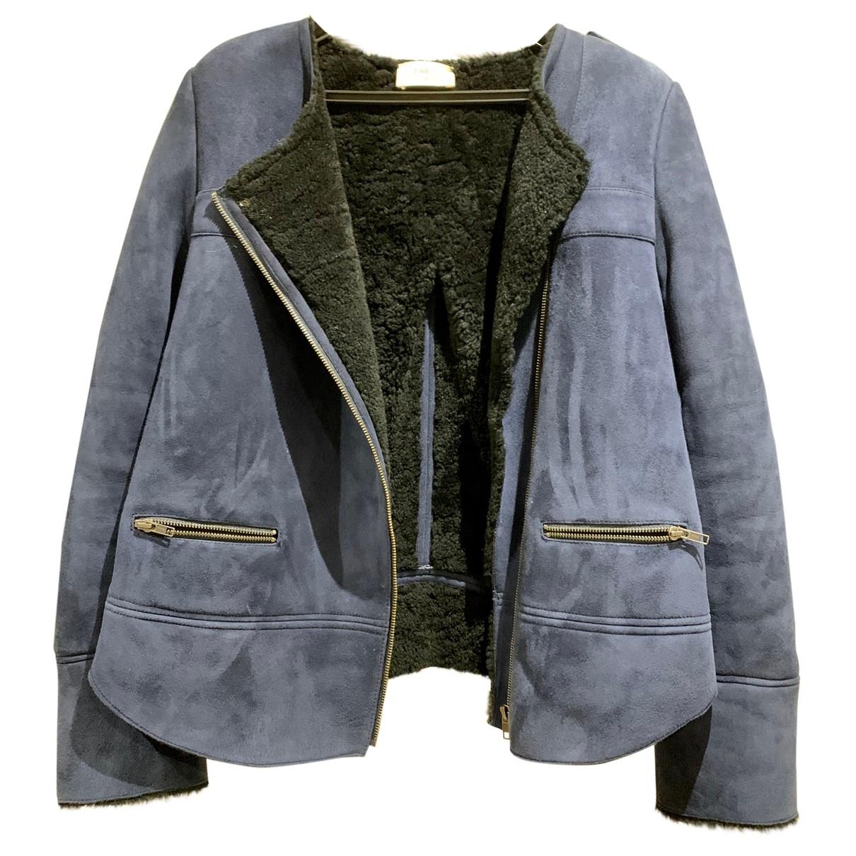 Ba&sh - Manteau   pour femme en mouton - marine