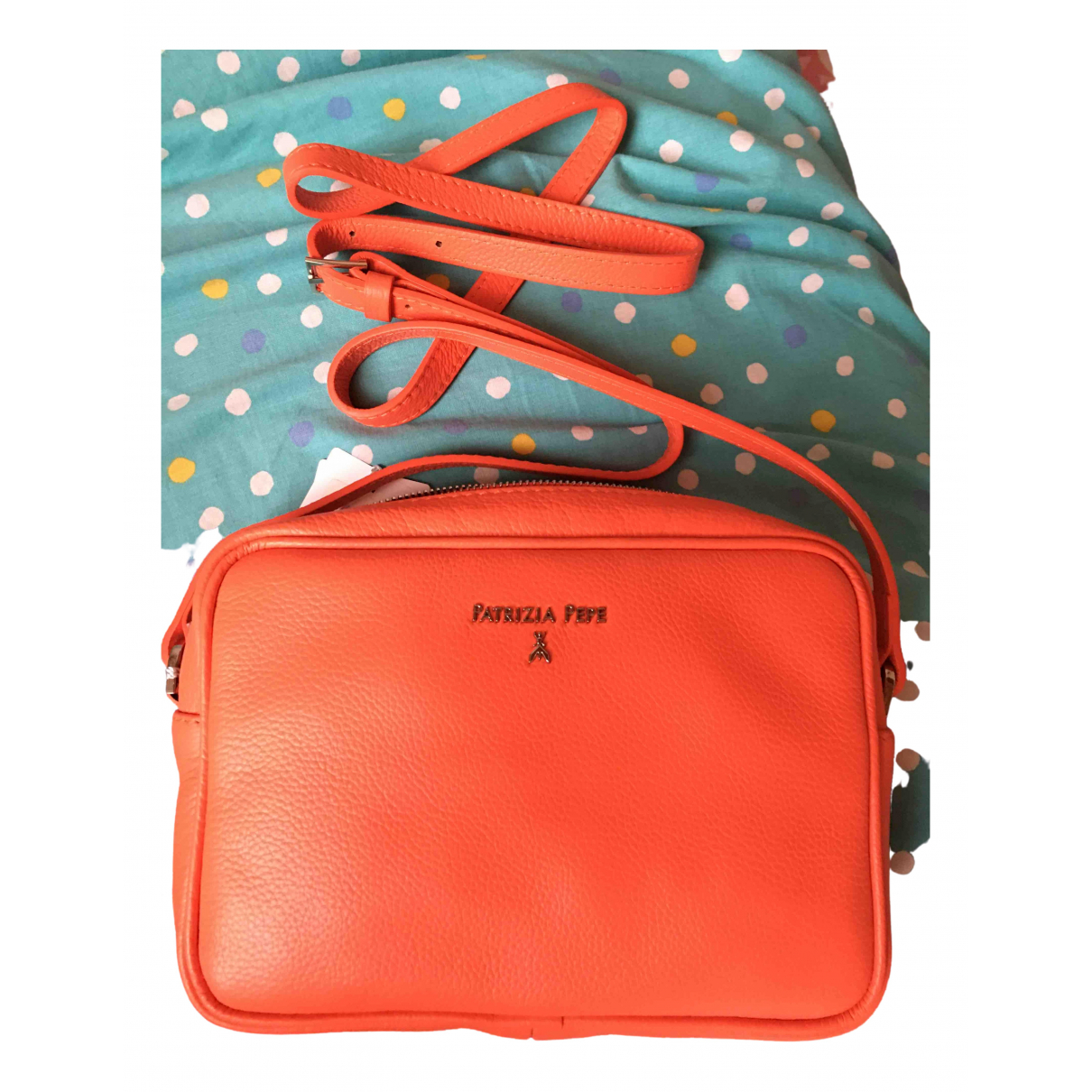 Patrizia Pepe \N Orange Leather handbag for Women \N