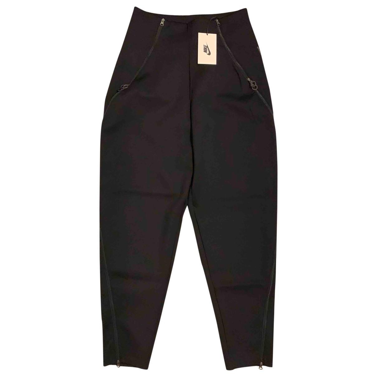 Nike \N Black Spandex Trousers for Women M International
