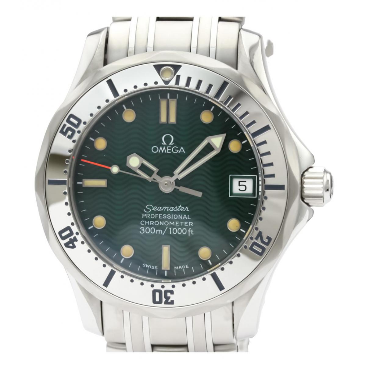 Omega Seamaster Uhr in  Gruen Stahl