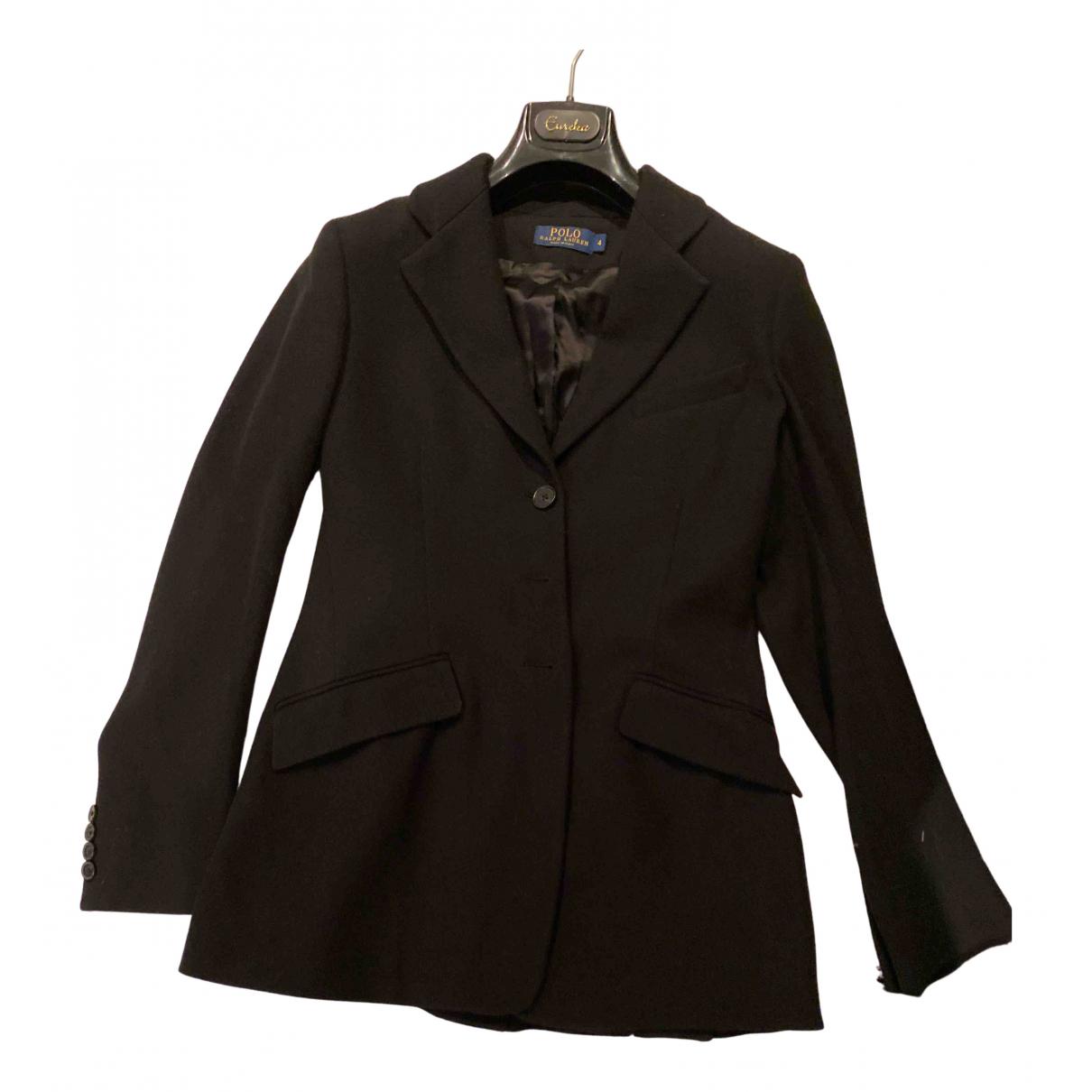 Polo Ralph Lauren - Veste   pour femme en laine - noir