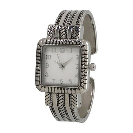 Olivia Pratt Womens Silver Tone Bracelet Watch-A916977silver, One Size , No Color Family