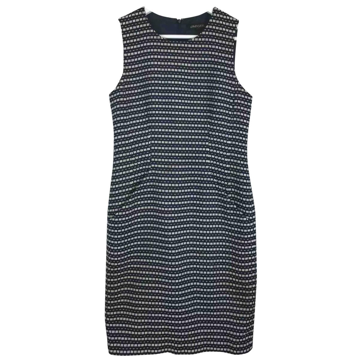 Jaeger \N Kleid in  Blau Baumwolle