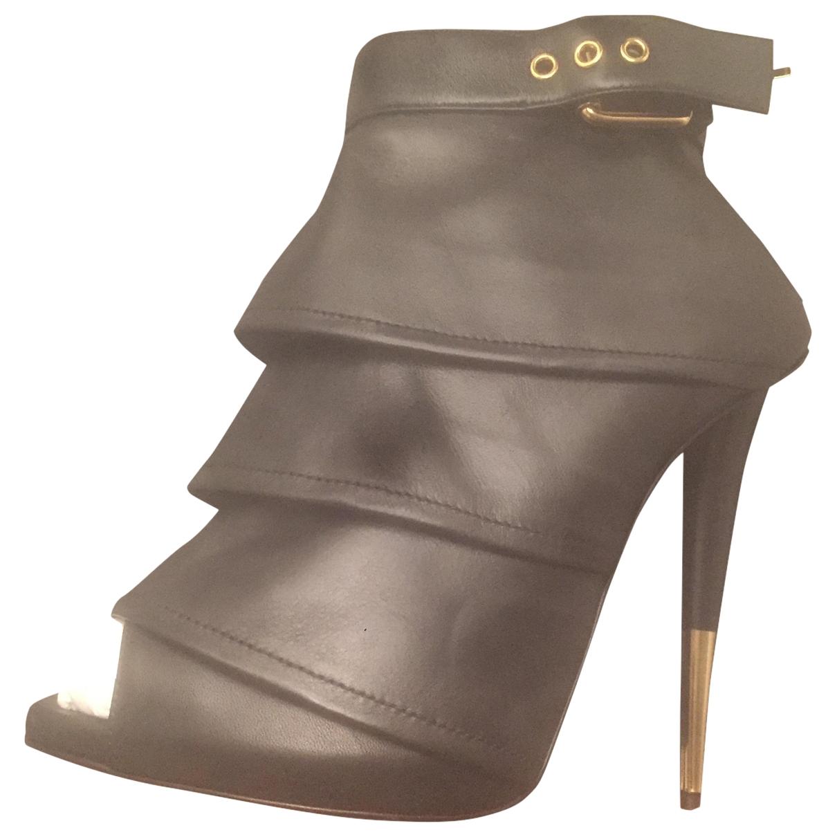 Giuseppe Zanotti - Boots   pour femme en cuir - noir