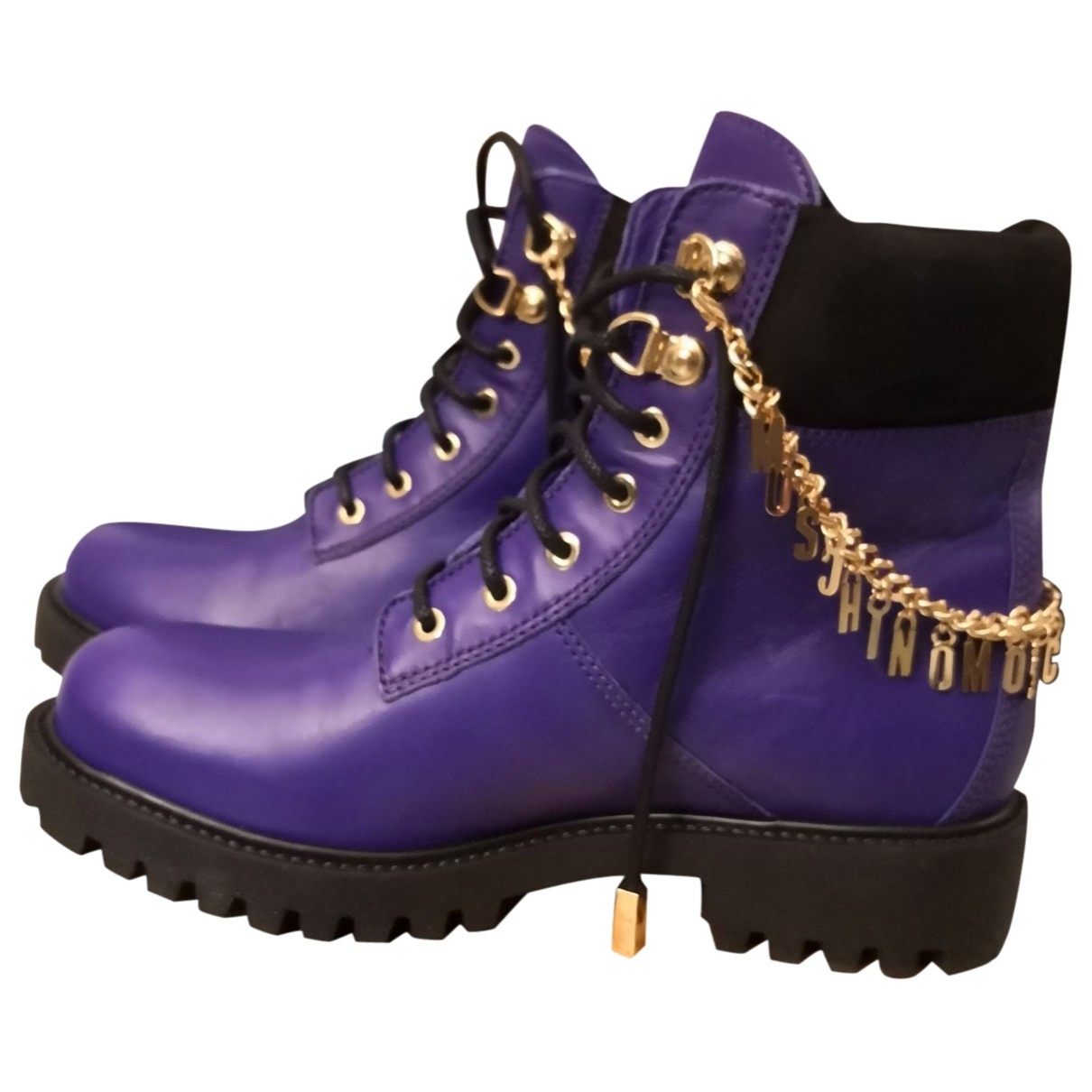 Moschino For H&m \N Stiefel in  Lila Leder