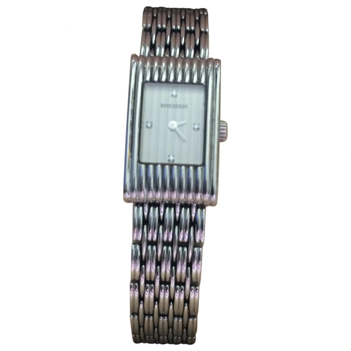 Boucheron Reflet Uhr in  Silber Stahl