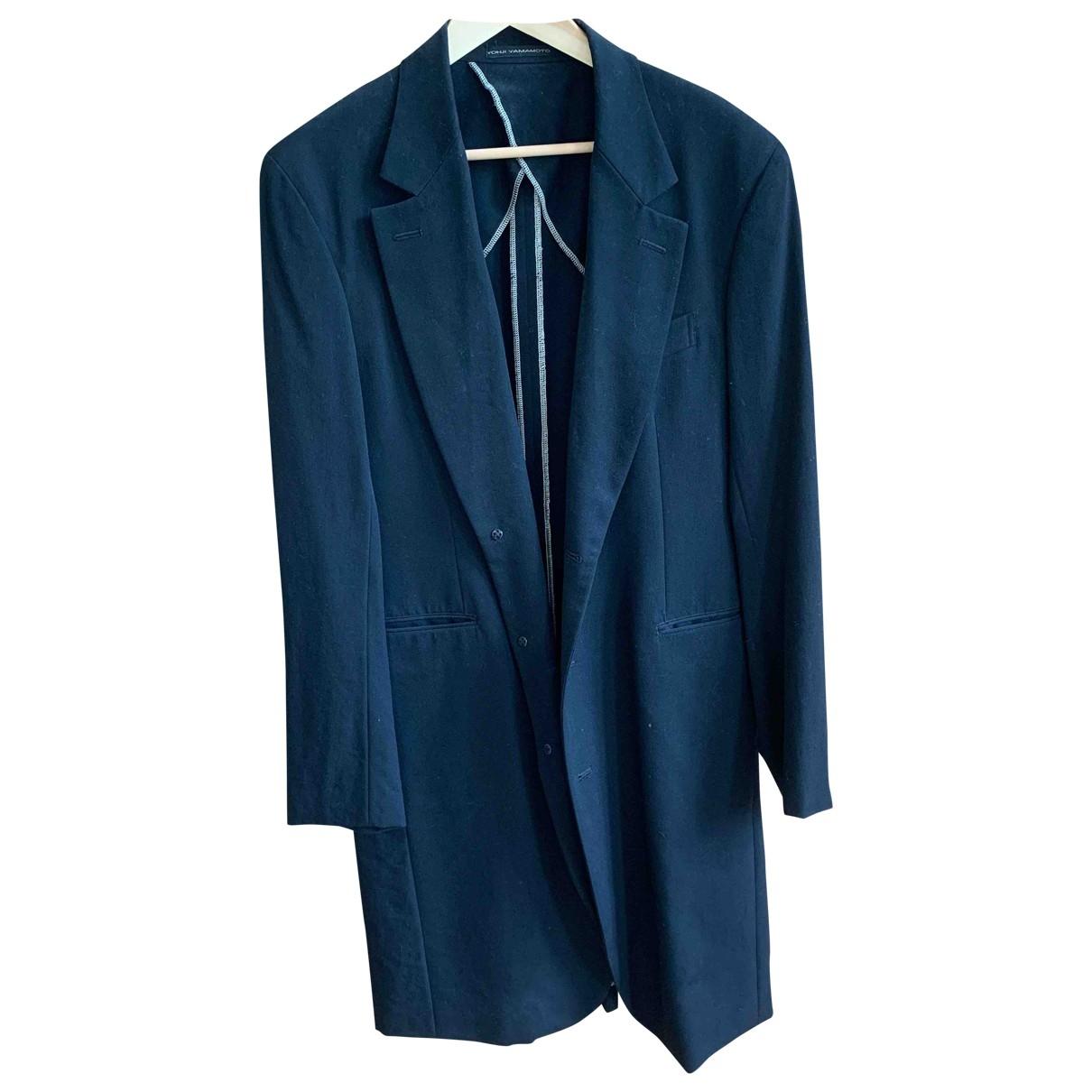 Yohji Yamamoto - Manteau   pour homme en laine - noir