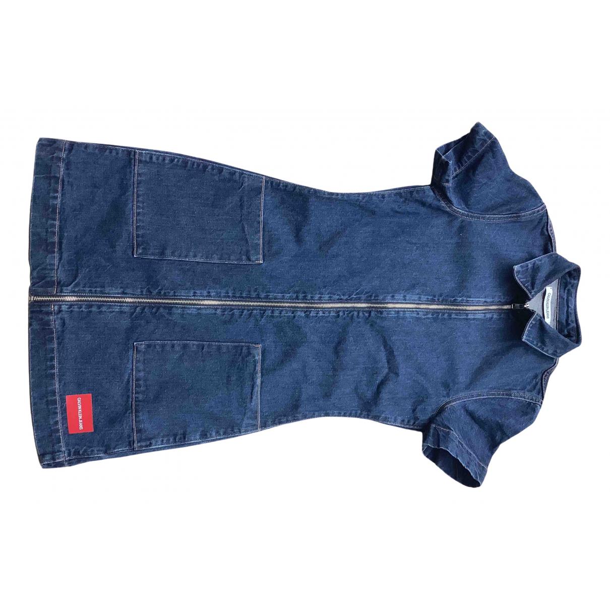 Calvin Klein \N Kleid in  Blau Denim - Jeans
