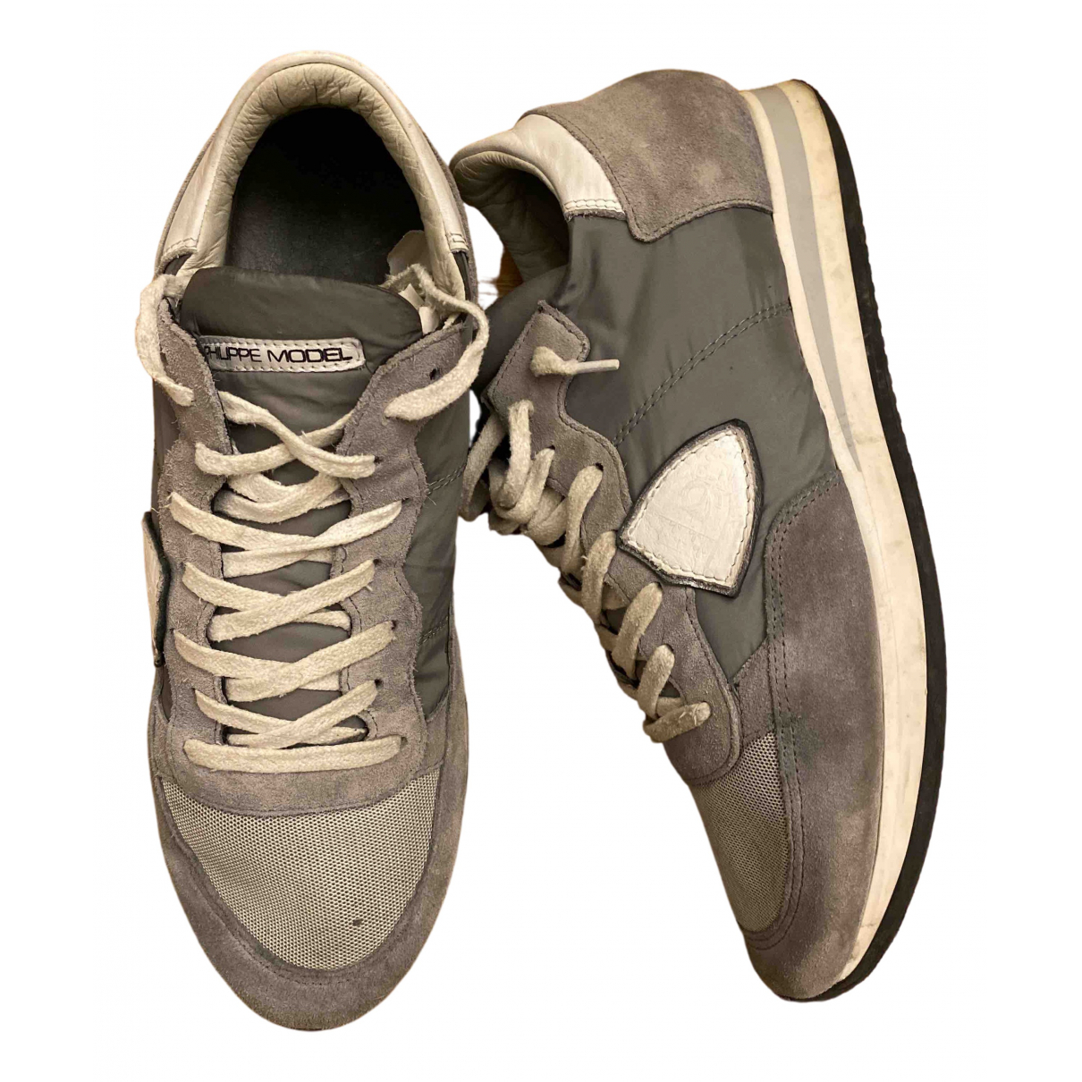 Philippe Model \N Grey Trainers for Men 42 EU