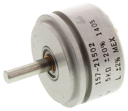 Vishay 1 Gang Rotary Conductive Plastic Potentiometer with an 3.18 mm Dia. Shaft - 5kΩ, ±20%, 1W Power Rating, Linear,