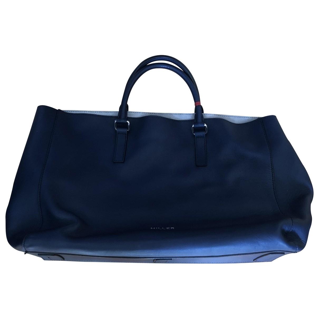 Miller \N Handtasche in  Blau Leder