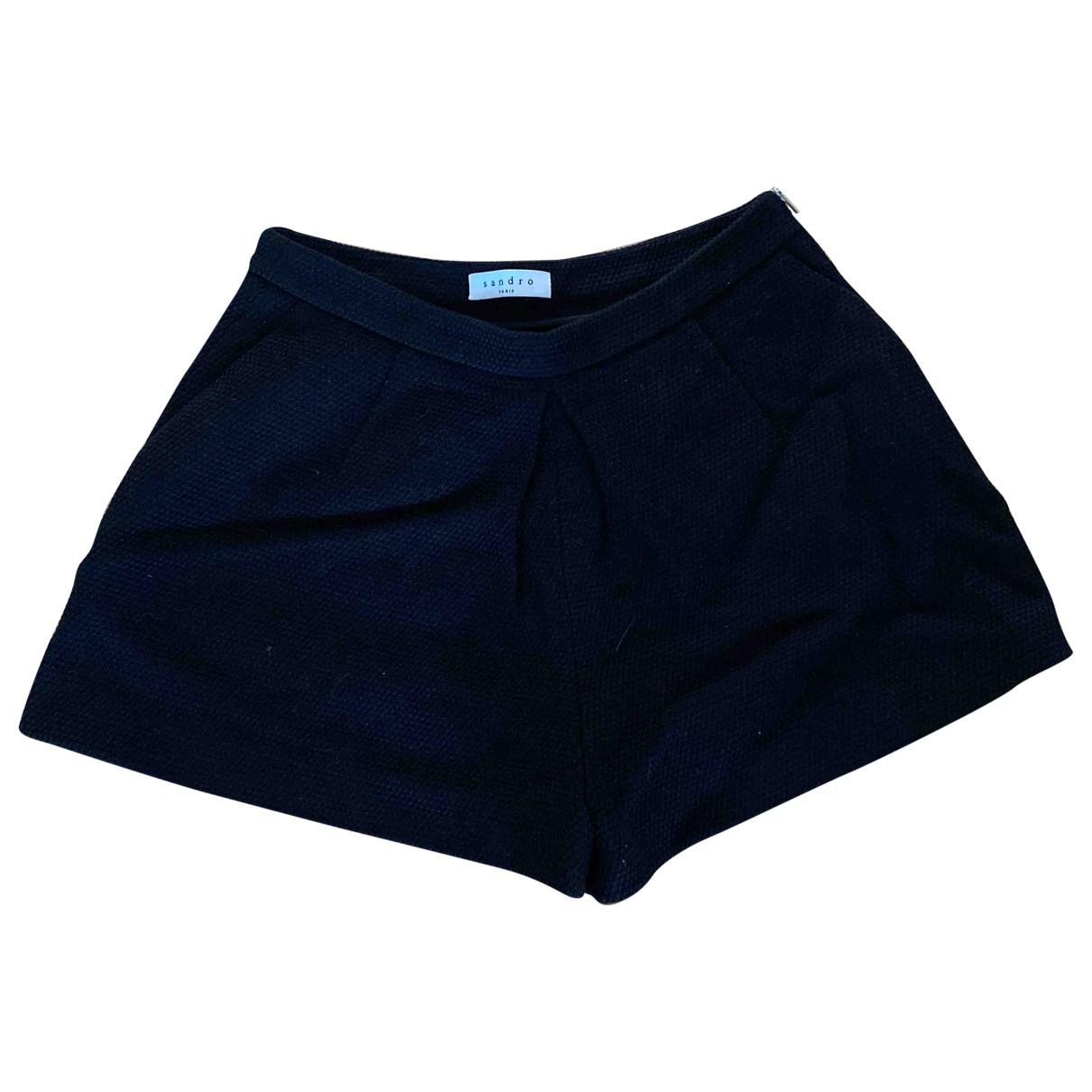 Sandro \N Shorts in  Schwarz Baumwolle