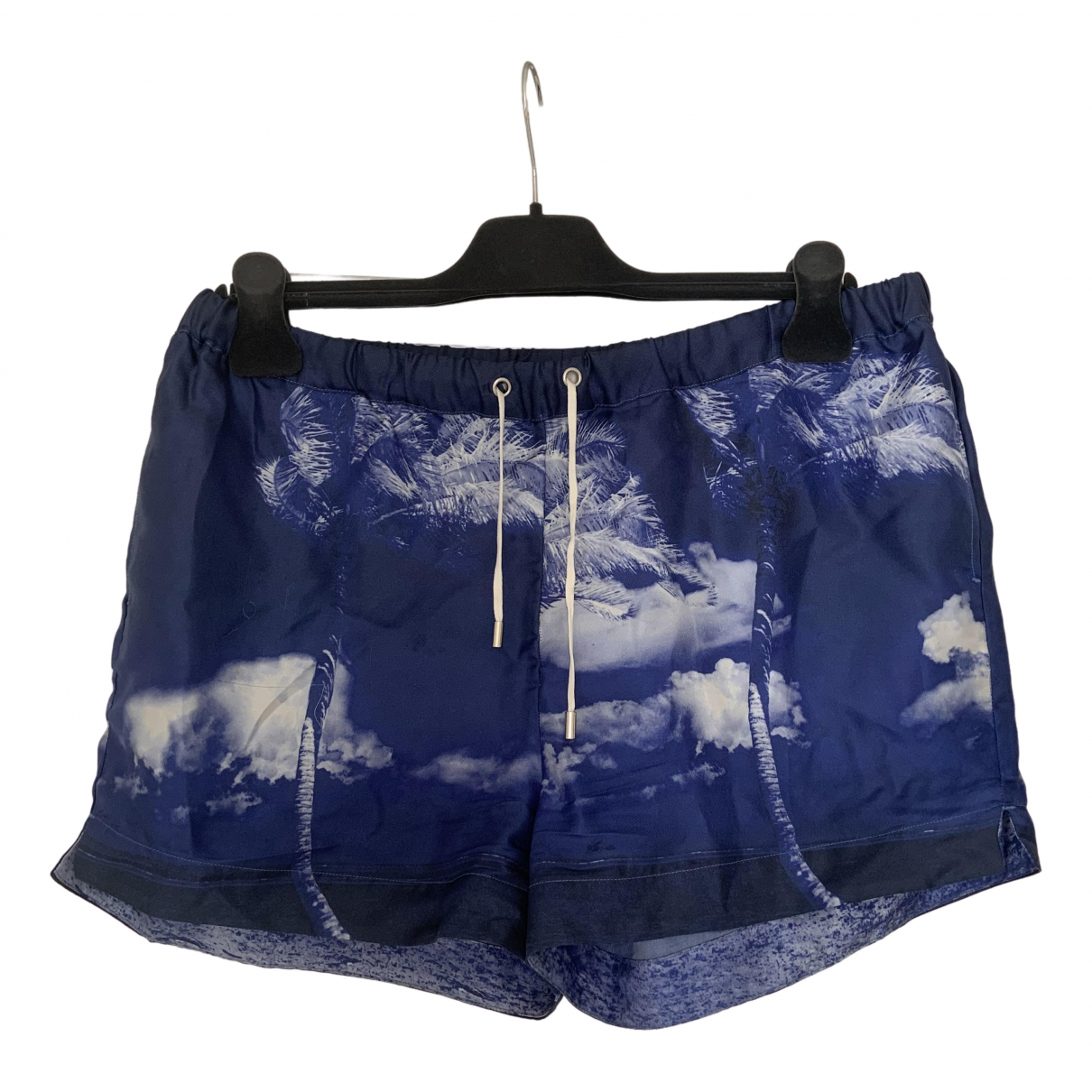 Orlebar Brown \N Blue Silk Shorts for Women 12 UK