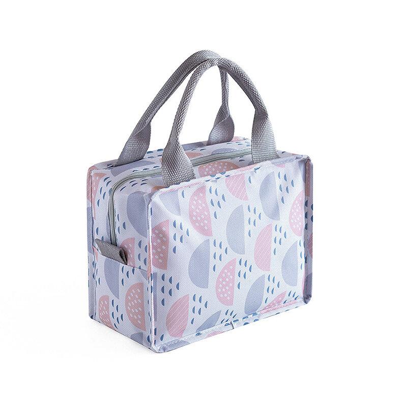 Square Zipper Insulation Bag Waterproof Fresh Keep Picnic Bag Portable Convenient Lunch Bag