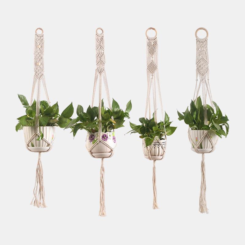 Handmade Macrame Plant Hanger Plant Holder Flower /Pot Hanger For Wall Decoration Countyard Garden