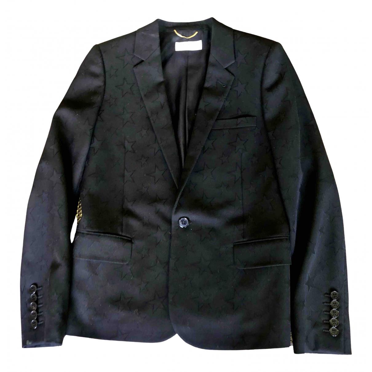 Saint Laurent \N Jacke in  Schwarz Wolle