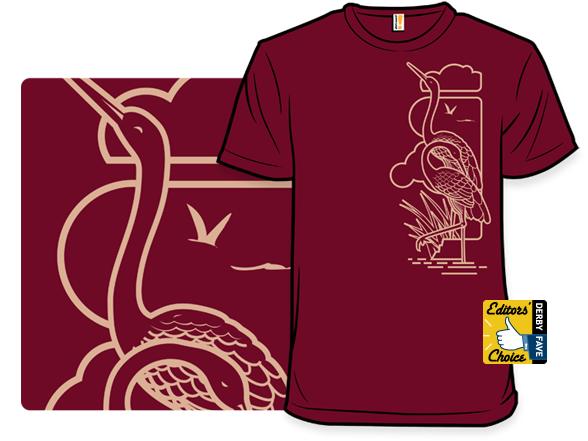 Cranes Nouveau T Shirt