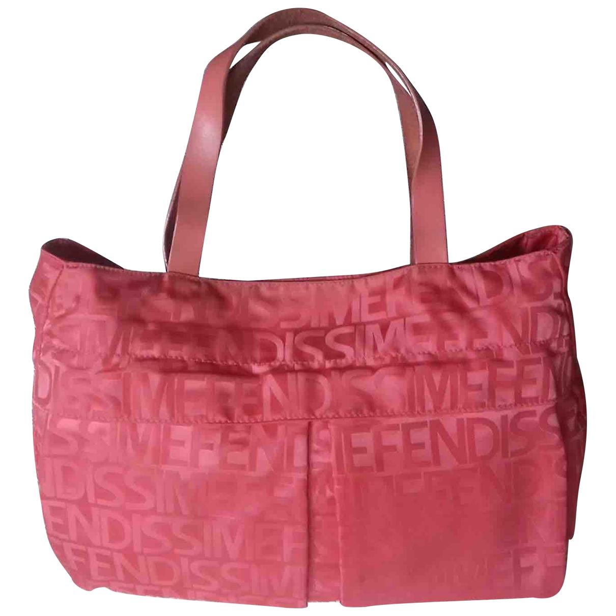 Fendissime \N Red Cloth handbag for Women \N