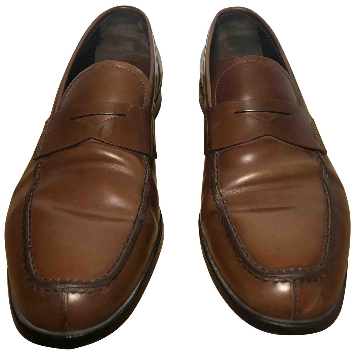 Prada - Mocassins   pour homme en cuir - marron