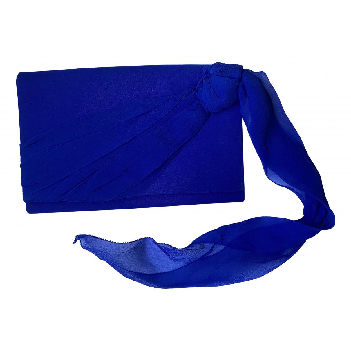 Dior - Pochette   pour femme en soie - bleu