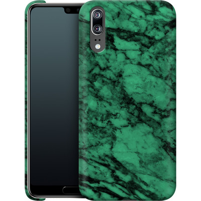 Huawei P20 Smartphone Huelle - Green Marble von caseable Designs