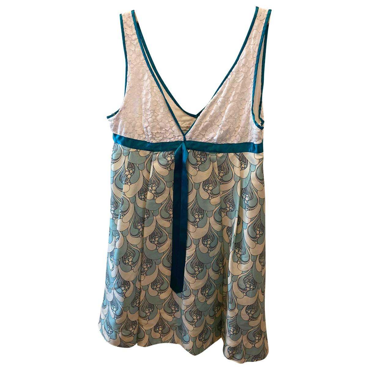 Non Signe / Unsigned \N Kleid in  Gruen Seide