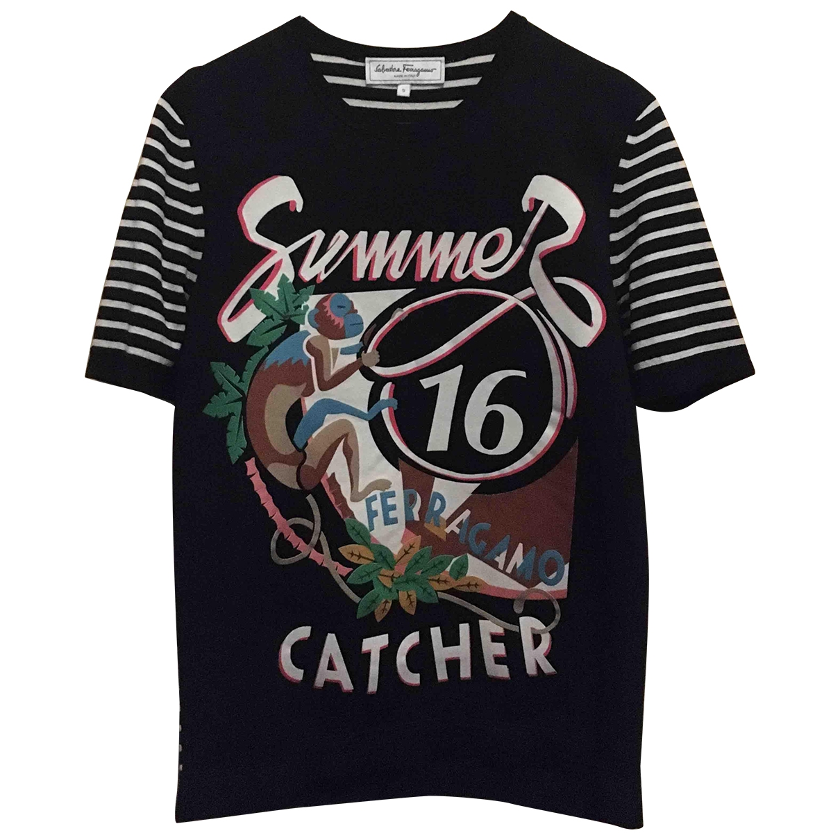 Salvatore Ferragamo \N Black T-shirts for Men S International