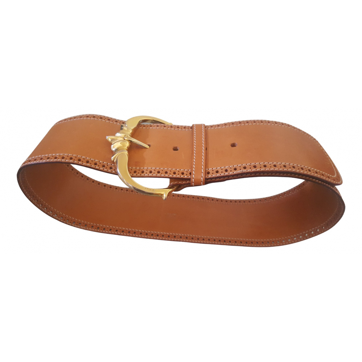 Celine \N Camel Leather belt for Women S International
