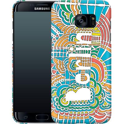 Samsung Galaxy S7 Edge Smartphone Huelle - Berlin Blue von Kaitlyn Parker