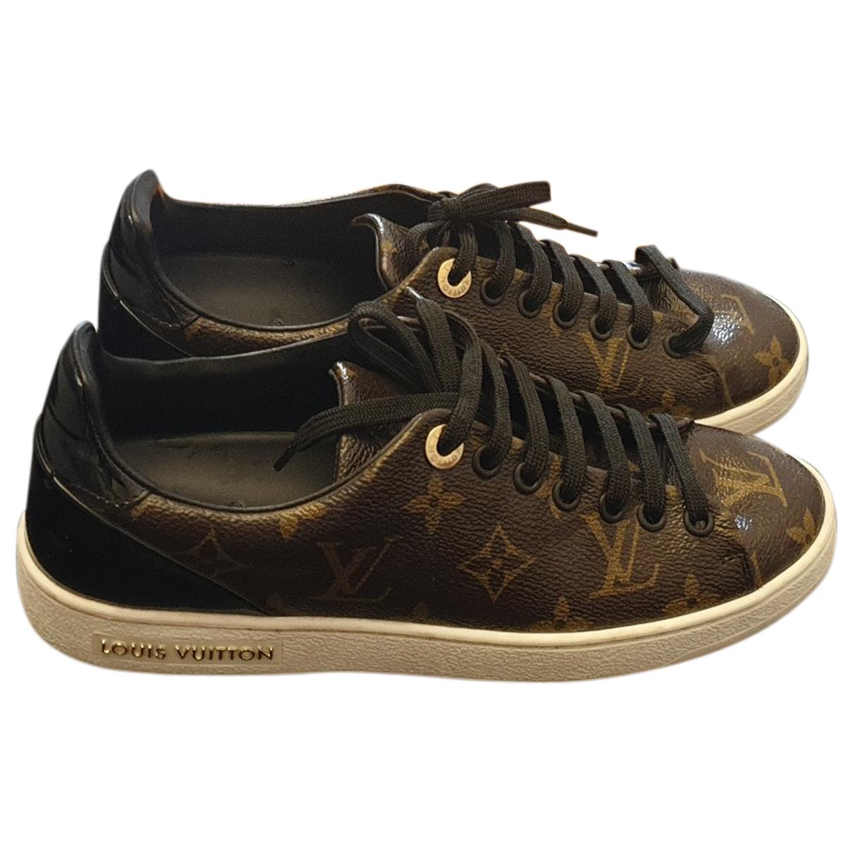 Louis Vuitton FrontRow Sneakers in  Braun Leinen