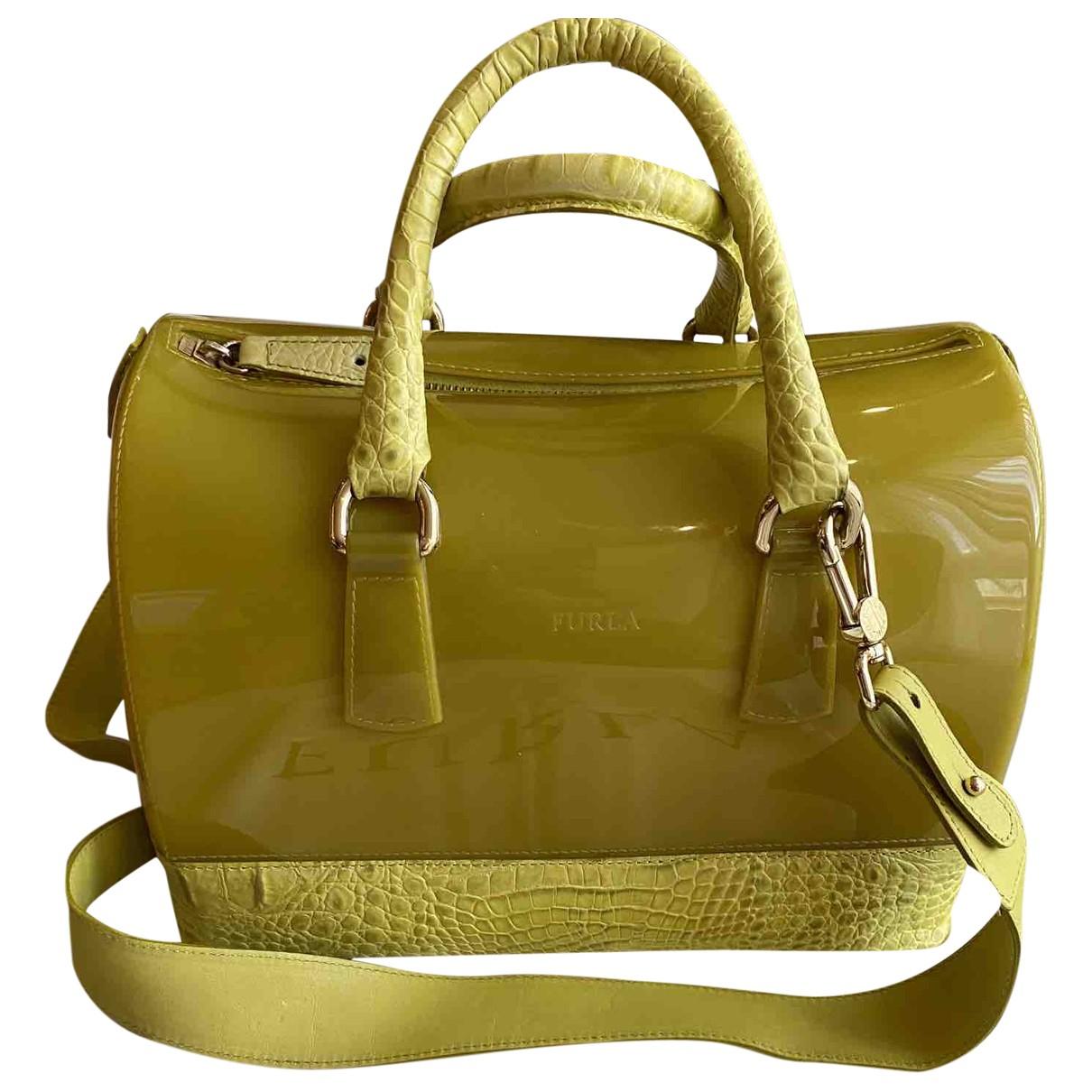 Furla Candy Bag Green Leather handbag for Women \N