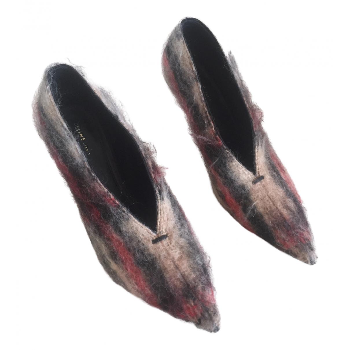 Celine - Escarpins Soft V Neck pour femme en tweed - multicolore