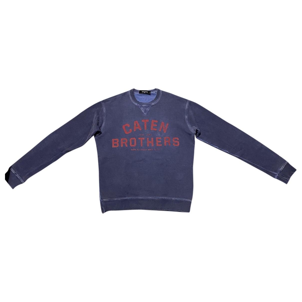 Dsquared2 \N Pullover.Westen.Sweatshirts  in  Blau Baumwolle