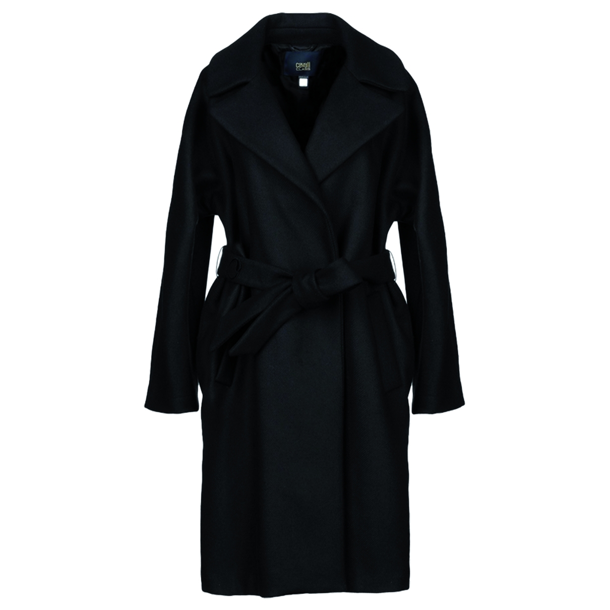Class Cavalli \N Black Wool coat for Women 44 IT