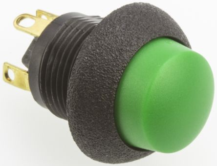 Otto Single Pole Double Throw (SPDT) Momentary Push Button Switch, IP64, Panel Mount, 28V dc