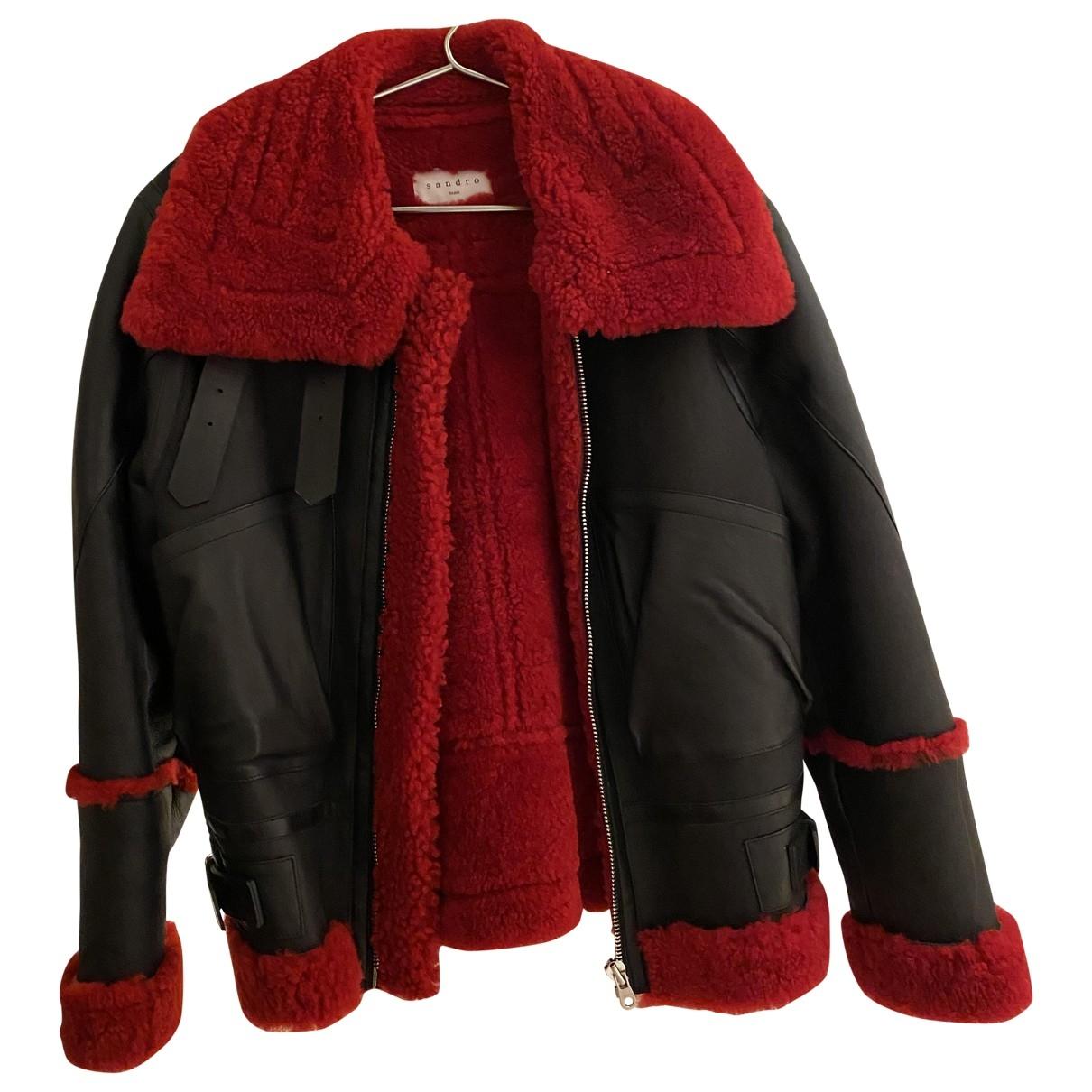 Sandro \N Black Shearling jacket for Women S International