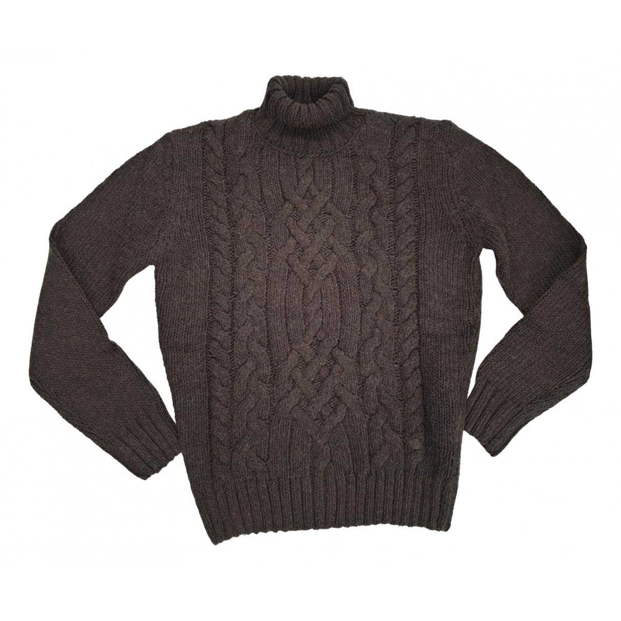 Trussardi N Brown Wool Knitwear & Sweatshirts for Men L International