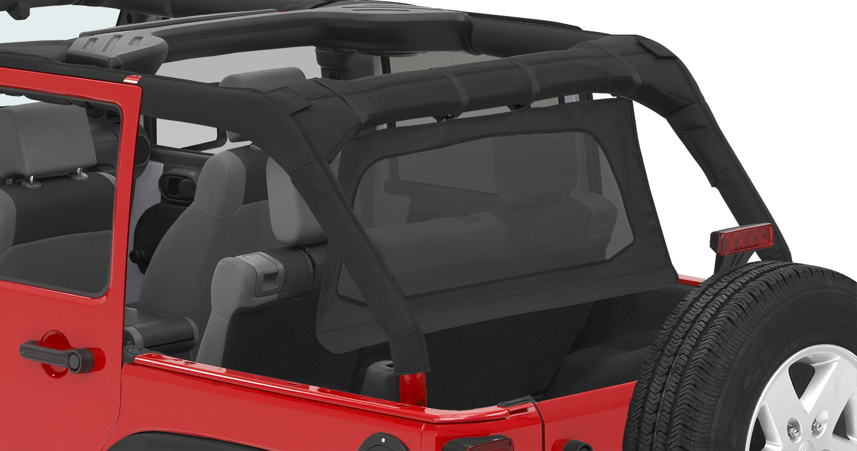 Pavement Ends 41425-35 By Bestop Black Diamond Cab Curtain Jeep Wrangler 4-Door 2007-2018