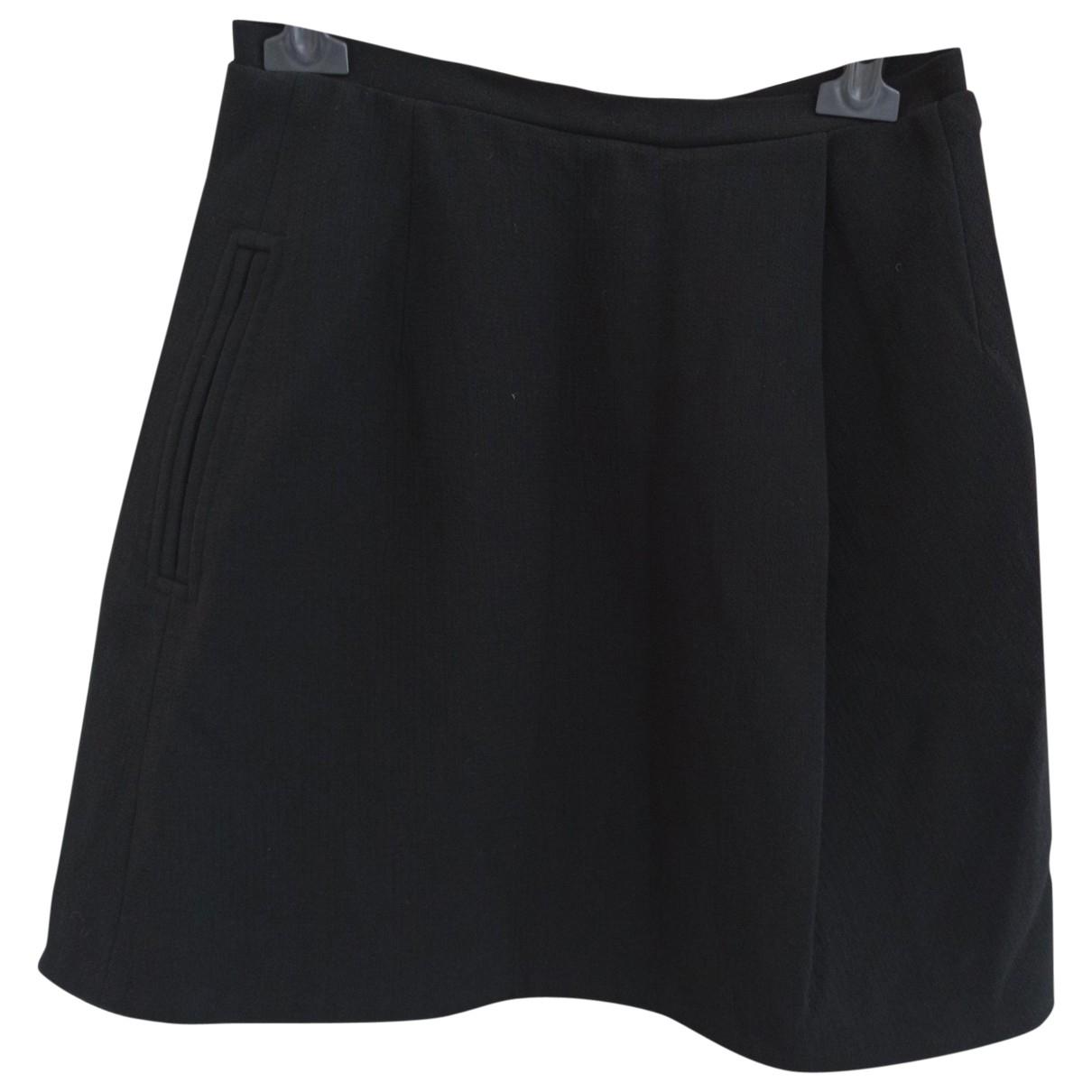 Carven \N Black Wool skirt for Women 38 FR