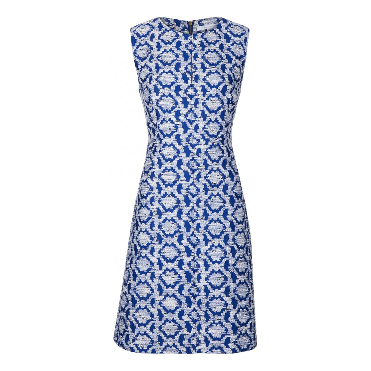 Diane Von Furstenberg \N Kleid in  Blau Viskose