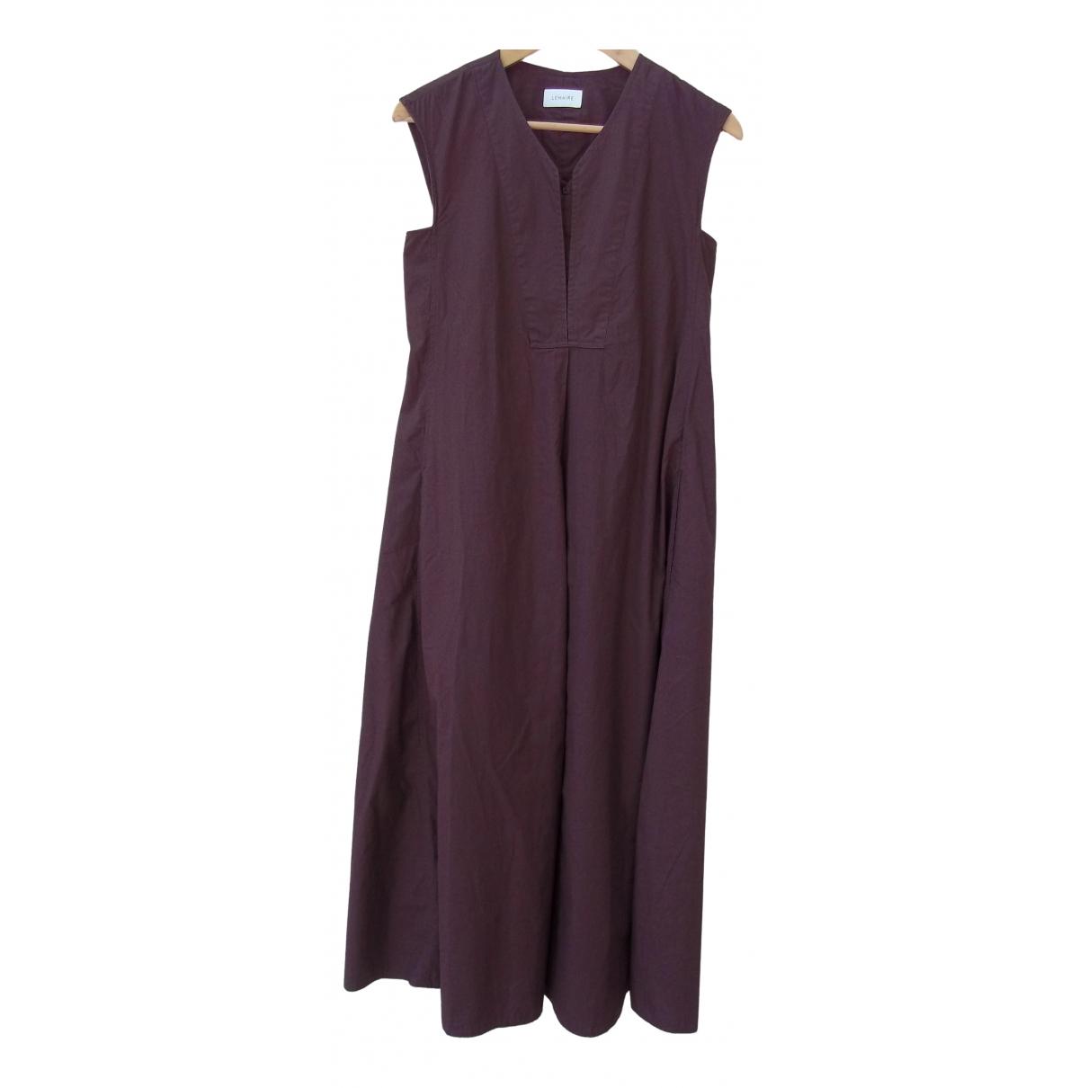 Lemaire \N Kleid in  Braun Baumwolle